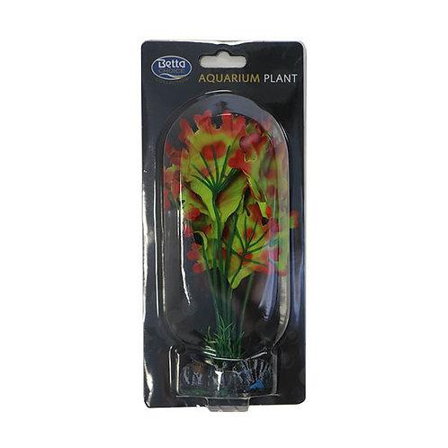 Betta Choice 20cm Silk Green & Red Plant