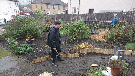 Working in the Church garden