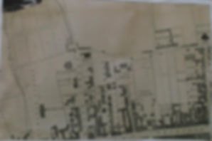 map of Glasgow with original church
