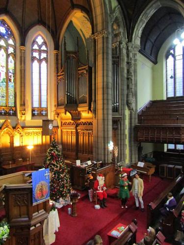 Santa in church