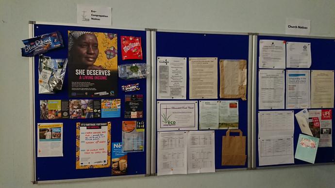 Our Eco-Congregation Notice Board