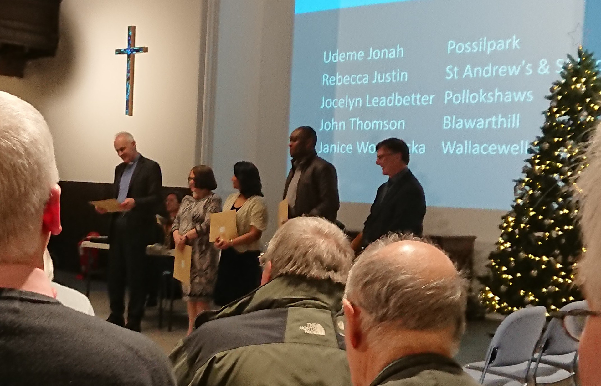 Presentation of Authorised Worship Leader accreditations at the Presbytery of Glasgow, 2019