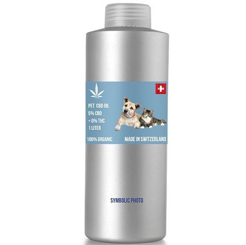 น้ำมันซีบีดีสำหรับสัตว์เลี้ยงจากสวิสเซอร์แลนด์ CBD 5% THC 0% (ขั้นต่ำ 1 ลิตร)