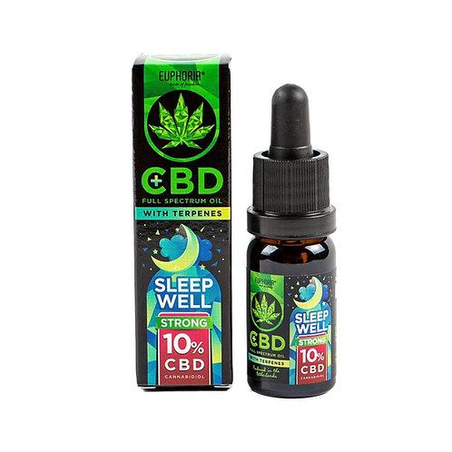SLEEP WELL: Full spectrum CBD ผสมเทอร์พีน สูตรช่วยให้นอนหลับ CBD 10%, THC<0.2%