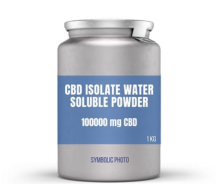 CBD isolate สูตรละลายในน้ำแบบผง สำหรับเครื่องดื่ม (100000 mg. CBD, 0 mg THC)