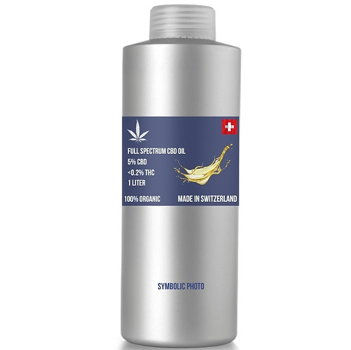 Full spectrum CBD Oil สวิสเกรด CBD 5% THC <0.2% (ขั้นต่ำ 1 ลิตร)