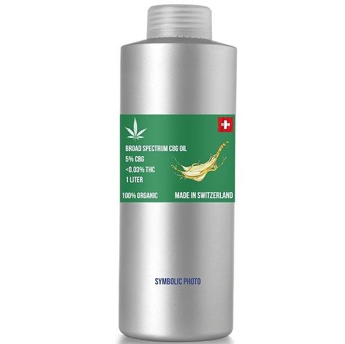Broad spectrum CBG  in hemp oil, 5% CBG 0.5% CBD,  MOQ: 1L