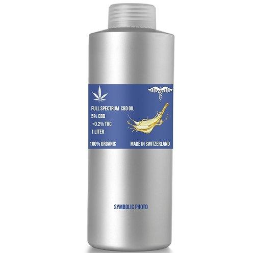 Full spectrum CBD Oil เมดิคัลเกรด, 5% CBD and <0.2% THC,  (ขั้นต่ำ 1 ลิตร)