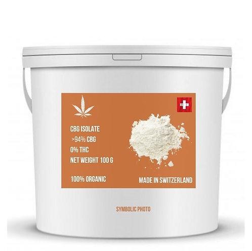 CBG isolate จากสวิสเซอร์แลนด์ บริสุทธิ์ 94% (ขั้นต่ำ 1 กิโลกรัม)