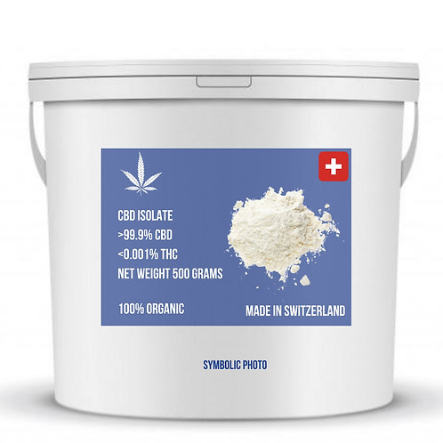 CBD Isolate 99.9% Purity, Swiss Made: MOQ 500 Grams