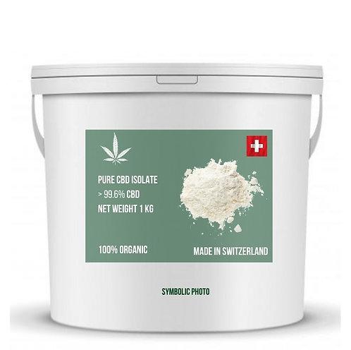 Pure CBD isolate แบบเกร็ด (สวิสเกรด) CBD >99.6% (ขั้นต่ำ 1 กิโลกรัม)