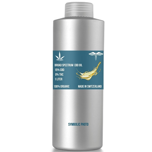 Broad spectrum CBD Oil with 15% CBD and 0% THC, MOQ: 1L