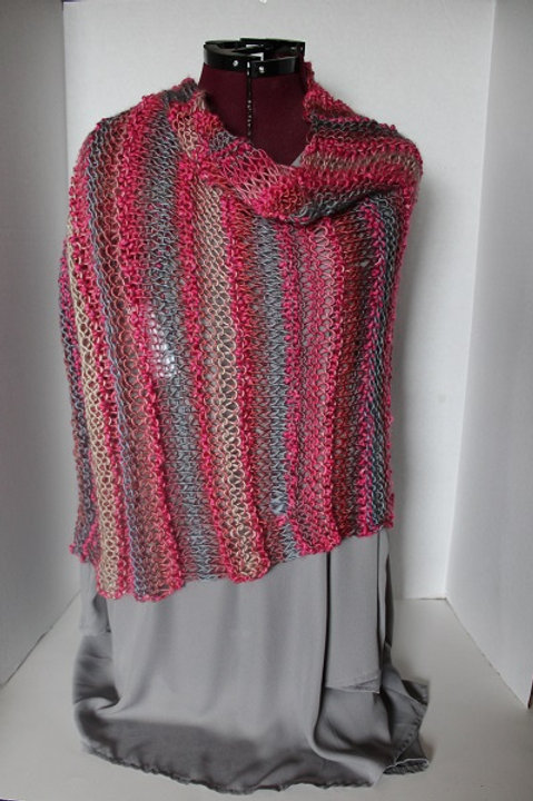 Knitted Pink Wrap