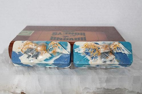 Blue Camo Soap with Eagle