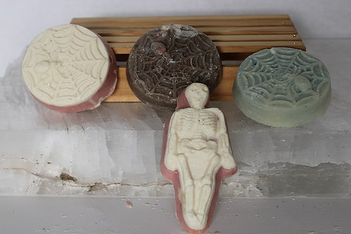 Spider and Skeleton Soaps