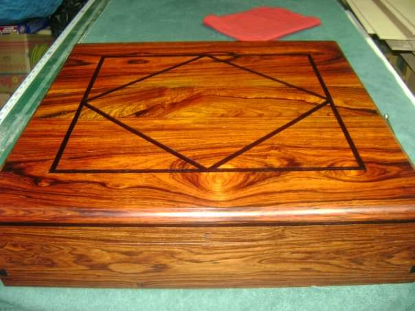 Cocobolo Box with Ebony Inlay