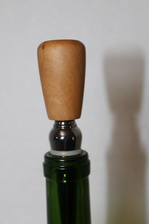 Plum Wood Bottle Stopper