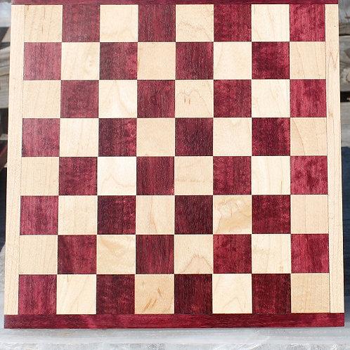 Purple Heart and Maple Checker/Chess Board 2