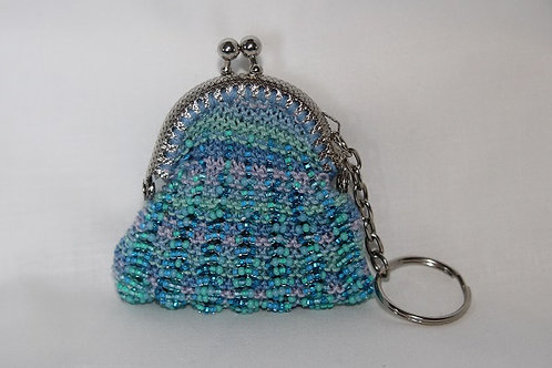 Small beaded coin purse
