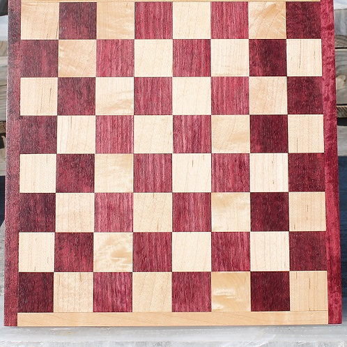 Purple Heart and Maple Checker/Chess Board 1