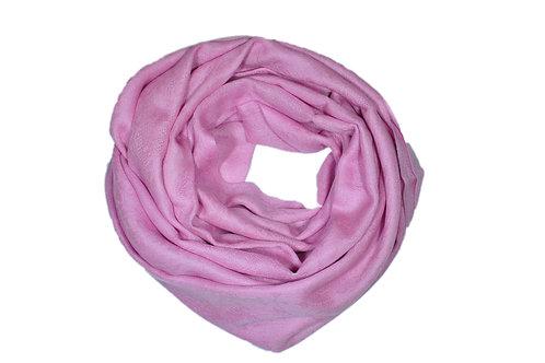 Kašmiirsall roosa sissekootud mustriga