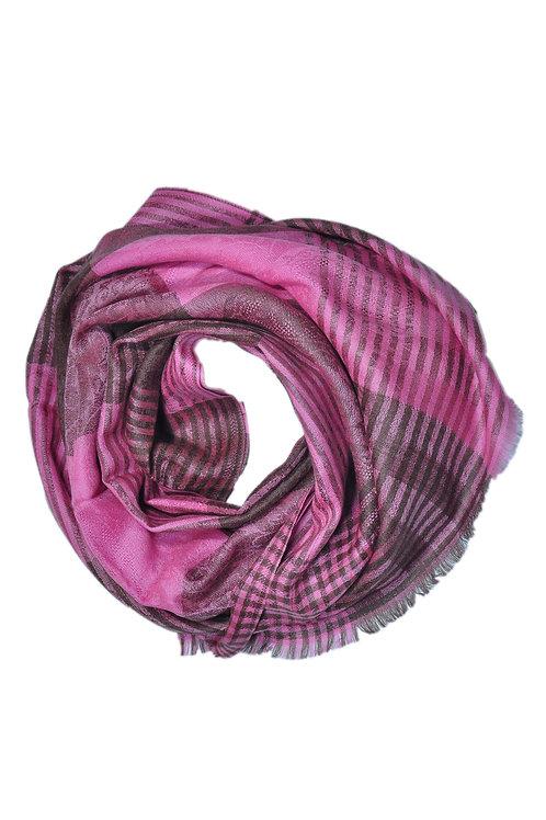Kašmiirsall heldam roosa mustriga