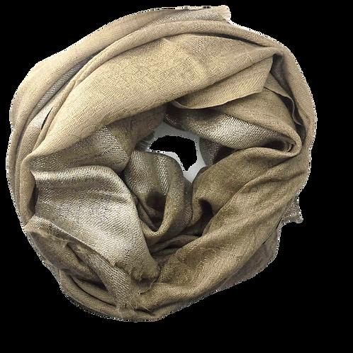 Kašmiirsall liivakarva hõbedase  servaga