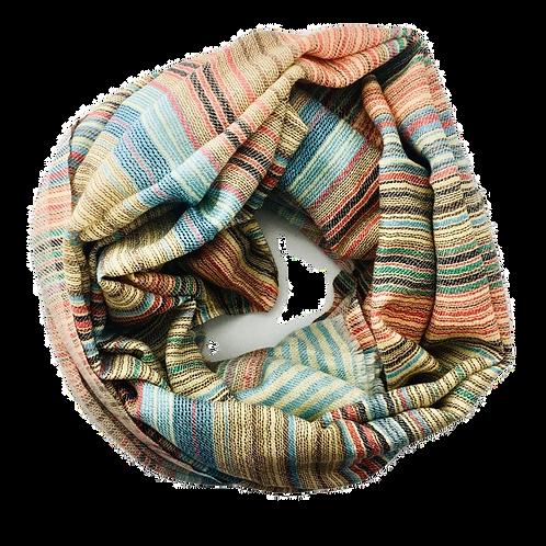 Värviline peenetriibuline kašmiirsall