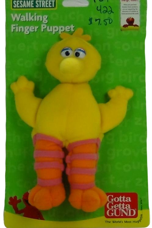 Big Bird walking Finger Puppet - (D)