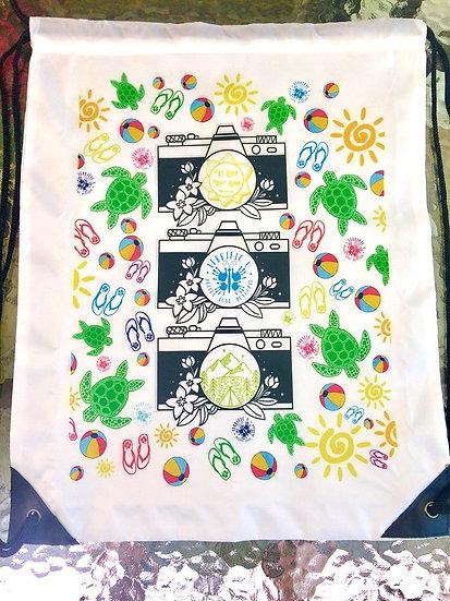 Summer Themed Drawstring Bag
