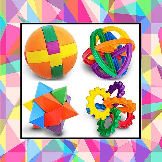 Puzzle Balls (Set of 4)