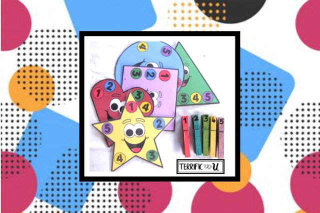 Colors, Numbers, & Shapes Fine Motor Kit