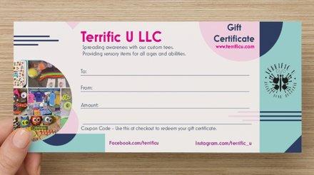 Terrific U Gift Certificate