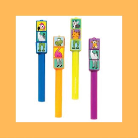 Zoo Twist Puzzle Cap Pens