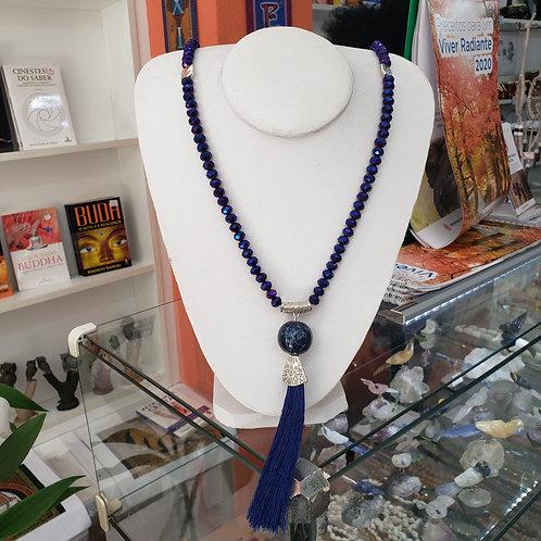 Japamala de Cristal Azul