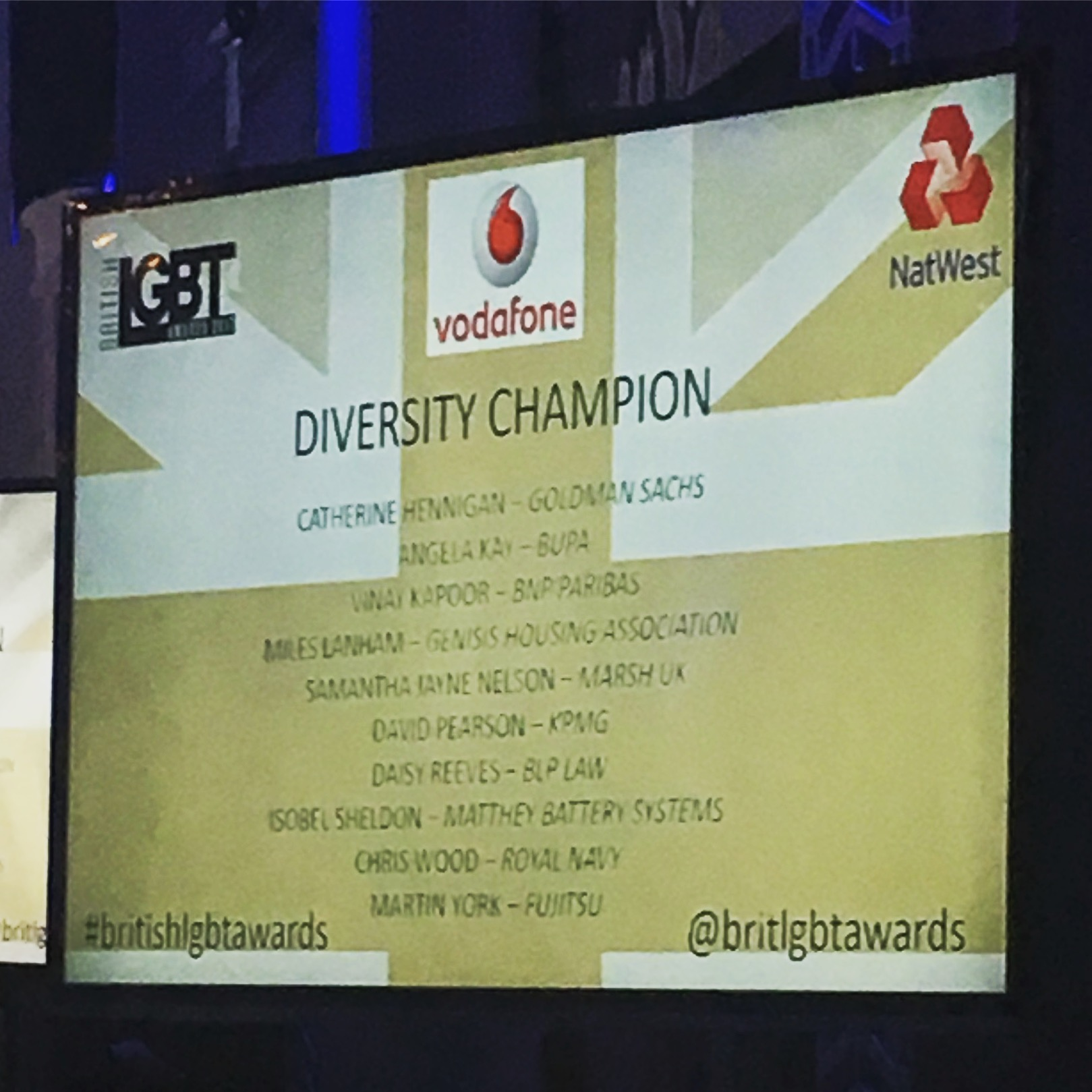 NatWest LGBT Awards 2017