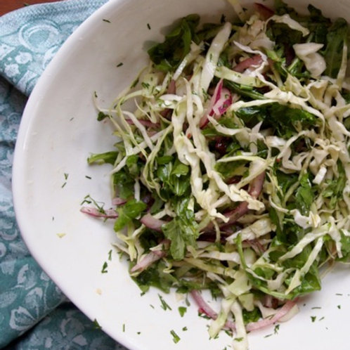 Winter Cabbage & Kale Salad