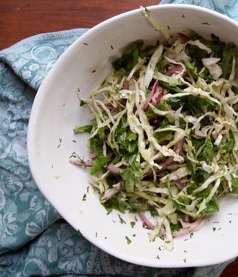 Spring Cabbage & Kale Salad