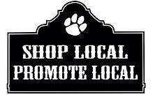 Shop local, promote local sticker.