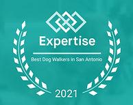 Best Dog Walker In San Antonio Award by Expertise 2021