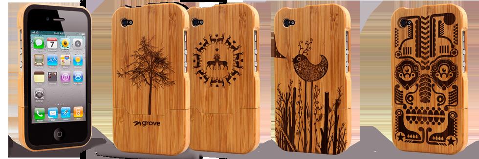 iPhone bamboo cover M.A.D Organics