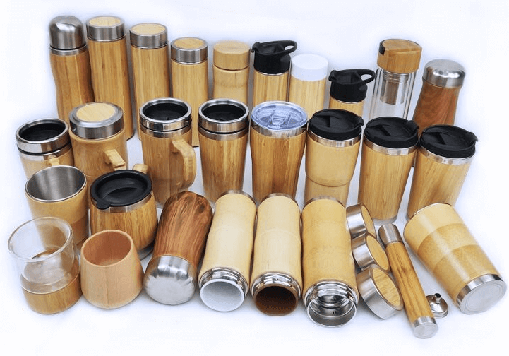 Reusable water bottles come in bamboo, stainless steel glass and even plastic