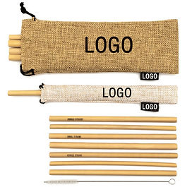 Customizable bamboo straws - laser engraved