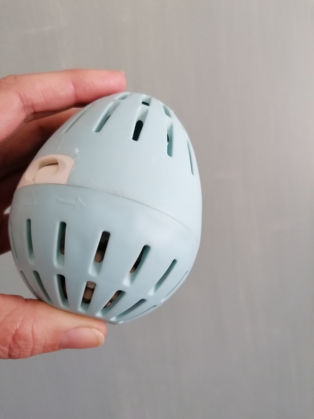 Blue EcoEgg for cleaning laundry