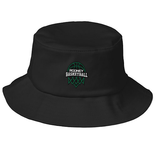 Old School Bucket Hat With Embroidery Logo