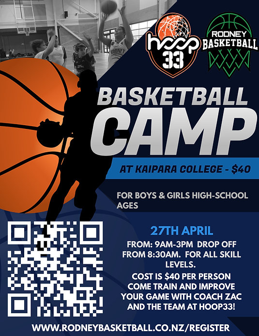 Copy of Basketball Camp Flyer Template (