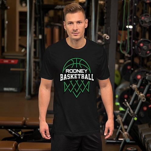 Short-Sleeve Unisex T-Shirt Featuring Rodney Basketball Club Logo