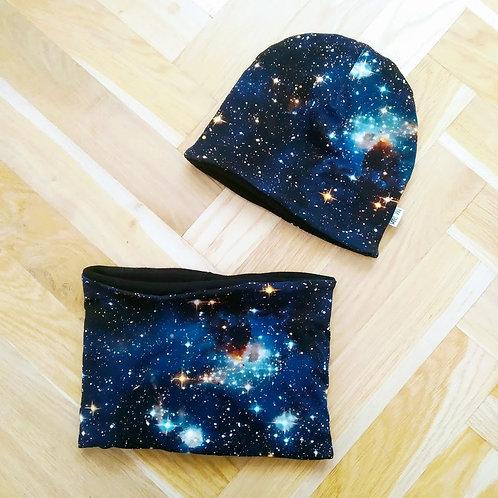 Set čepice a nákrčníku vesmír