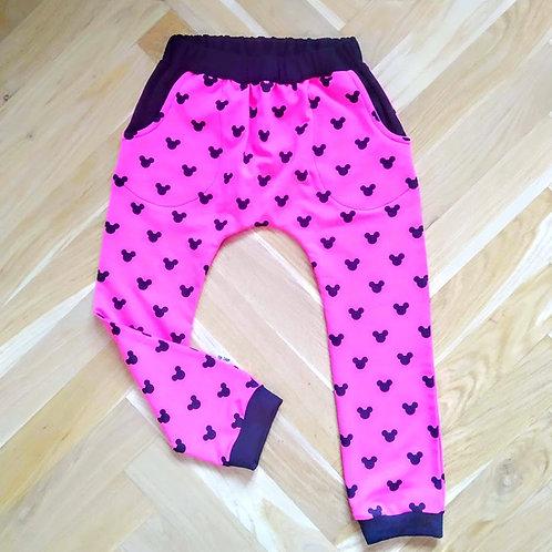 Tepláky - mickey pink