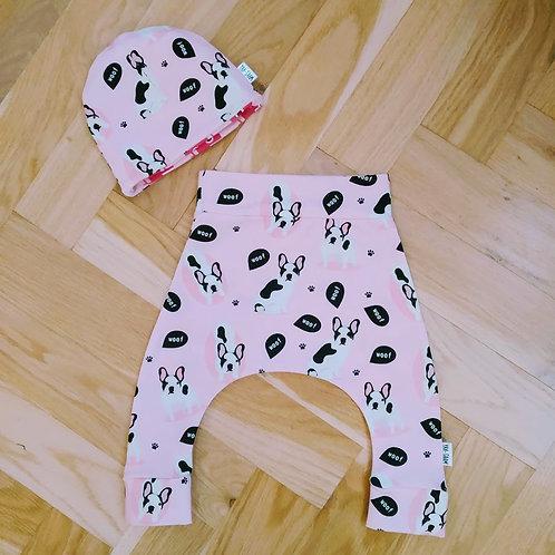 Novorozenecký set - dogs pink
